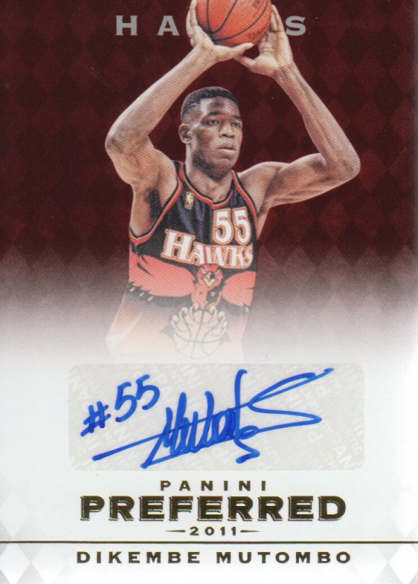 2011-12 Panini Preferred #45 Dikembe Mutombo PS/74 AU