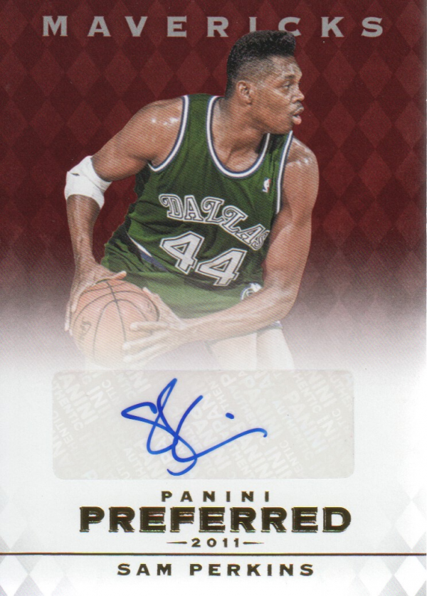 2011-12 Panini Preferred #87 Sam Perkins PS/74 AU