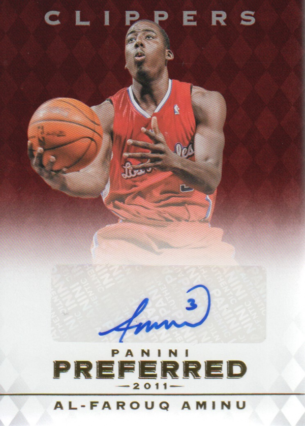 2011-12 Panini Preferred #292 Al-Farouq Aminu PS/99 AU