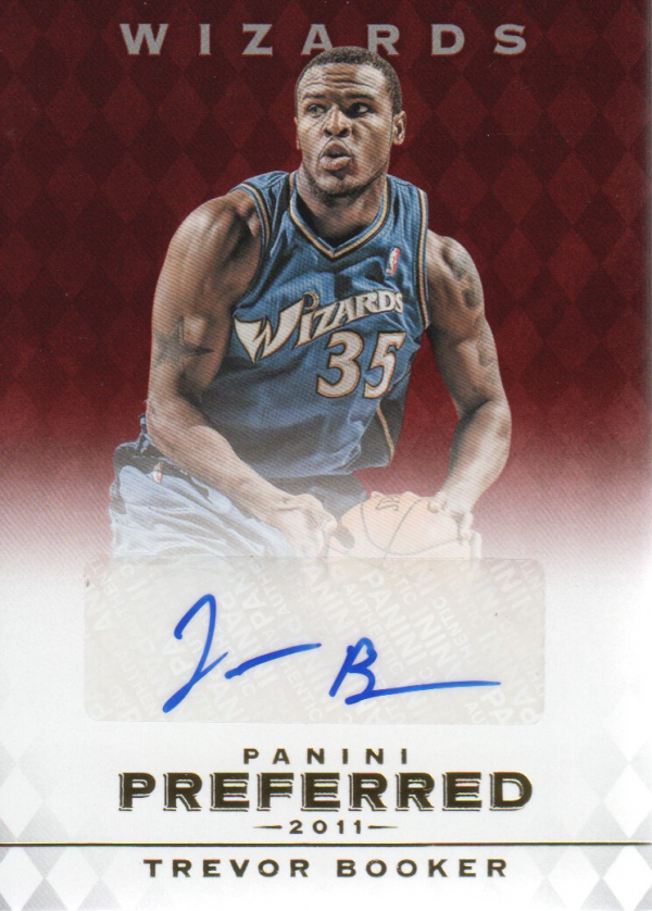 2011-12 Panini Preferred #296 Trevor Booker PS/99 AU