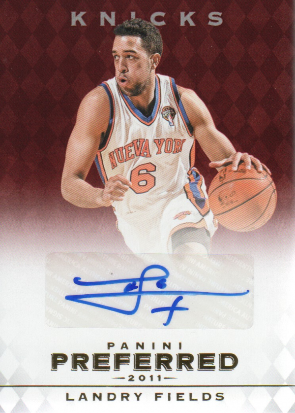 2011-12 Panini Preferred #303 Landry Fields PS/99 AU