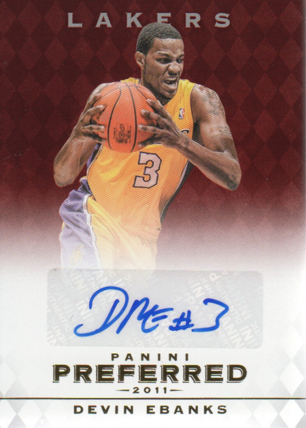 2011-12 Panini Preferred #315 Devin Ebanks PS/99 AU