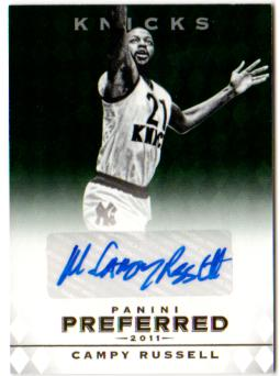 2011-12 Panini Preferred Emerald #23 Campy Russell PS/5 AU