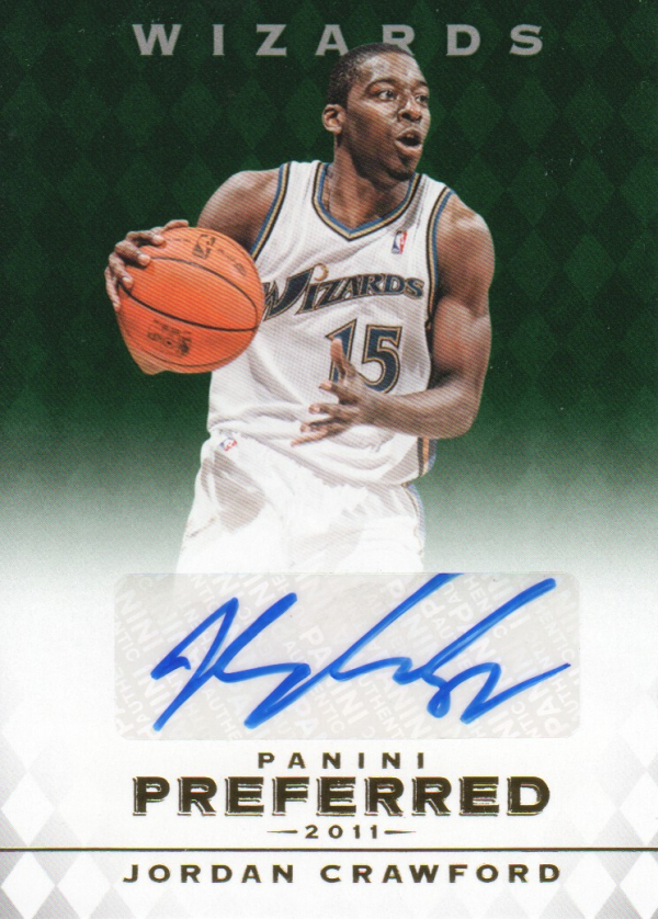 2011-12 Panini Preferred Emerald #300 Jordan Crawford PS/75 AU