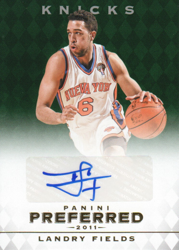 2011-12 Panini Preferred Emerald #303 Landry Fields PS/75 AU