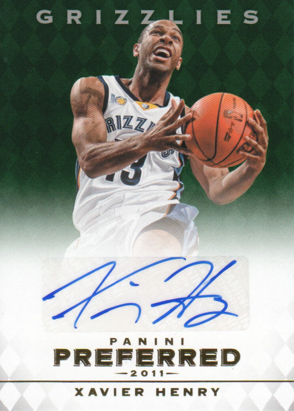 2011-12 Panini Preferred Emerald #308 Xavier Henry PS/75 AU