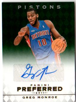 2011-12 Panini Preferred Emerald #310 Greg Monroe PS/75 AU