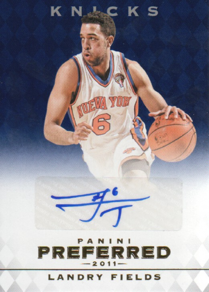 2011-12 Panini Preferred Blue #303 Landry Fields PS/49 AU