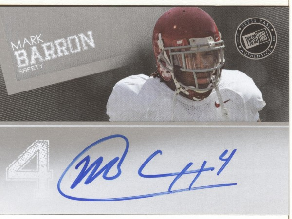 2012 Press Pass Autographs Silver #PPSMB Mark Barron