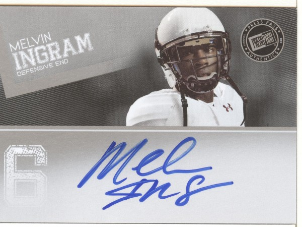 2012 Press Pass Autographs Silver #PPSMI Melvin Ingram