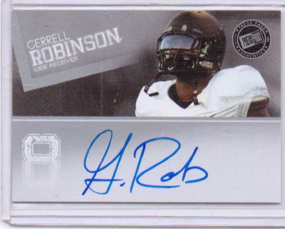 2012 Press Pass Autographs Silver #PPSGR Gerell Robinson