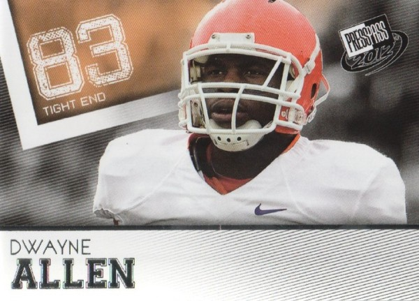 2012 Press Pass #1 Dwayne Allen