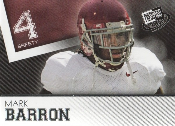 2012 Press Pass #2 Mark Barron