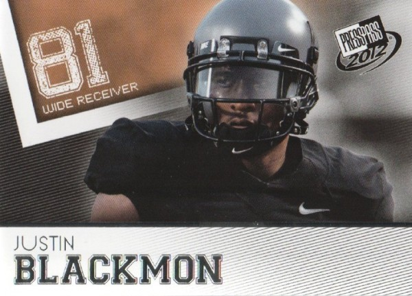 2012 Press Pass #3 Justin Blackmon