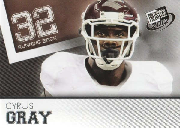 2012 Press Pass #19 Cyrus Gray