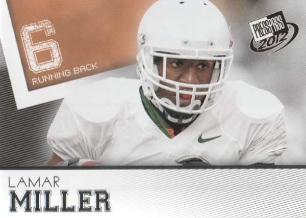 2012 Press Pass #34 Lamar Miller
