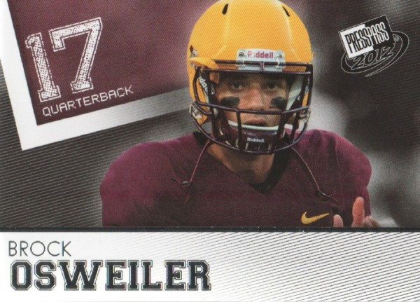 2012 Press Pass #36 Brock Osweiler