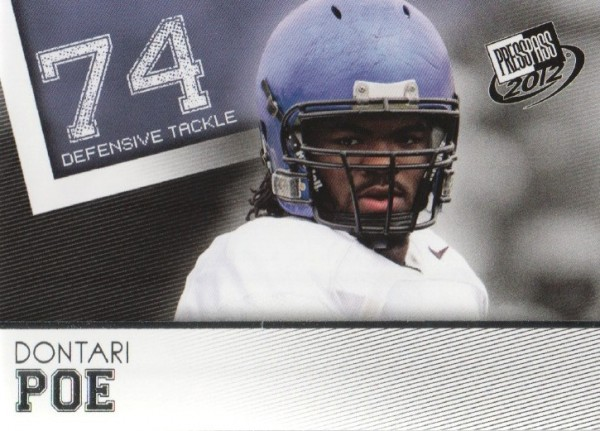 2012 Press Pass #39 Dontari Poe