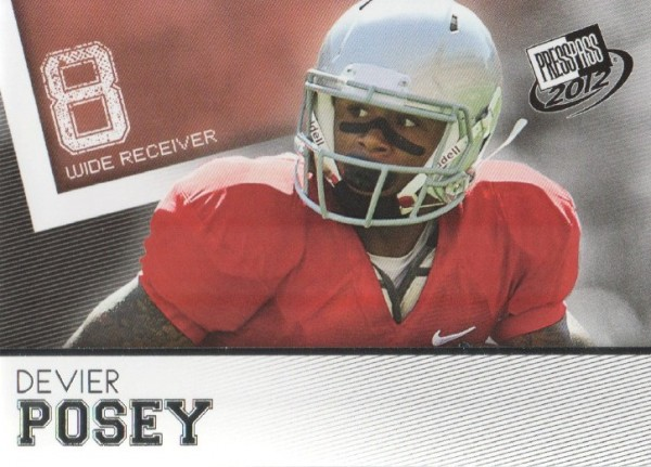 2012 Press Pass #40 DeVier Posey