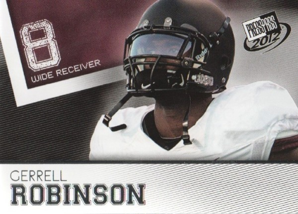 2012 Press Pass #42 Gerell Robinson