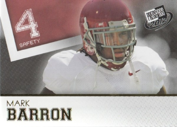 2012 Press Pass Gold #2 Mark Barron