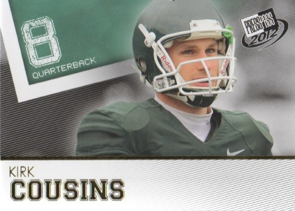 2012 Press Pass Gold #8 Kirk Cousins