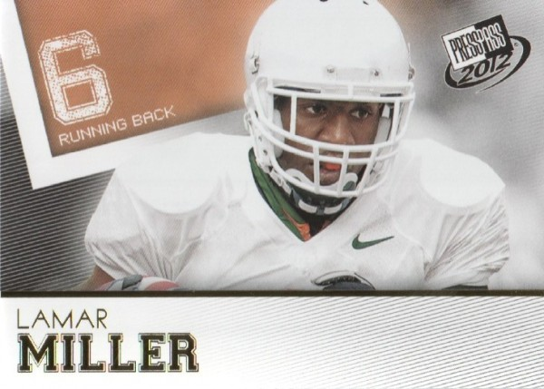 2012 Press Pass Gold #34 Lamar Miller