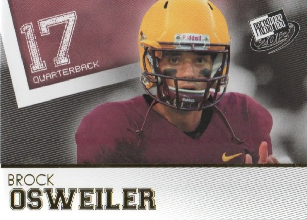 2012 Press Pass Gold #36 Brock Osweiler