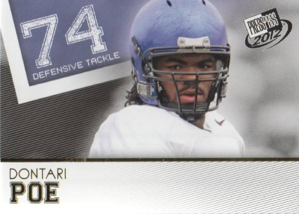 2012 Press Pass Gold #39 Dontari Poe