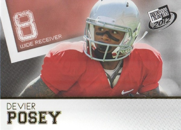 2012 Press Pass Gold #40 DeVier Posey