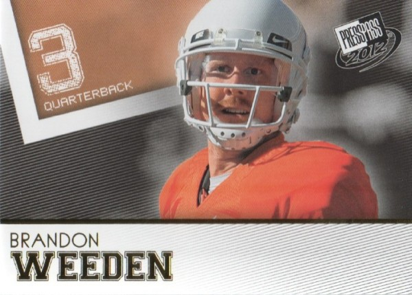 2012 Press Pass Gold #48 Brandon Weeden