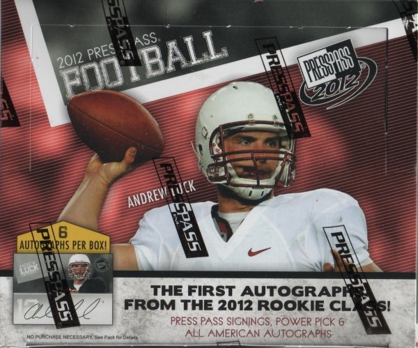 2012 Press Pass Football Hobby Box
