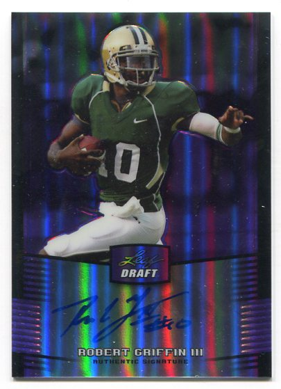 2012 Leaf Metal Draft Prismatic Purple #RG3 Robert Griffin III