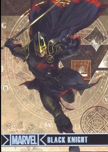 2012 Marvel Greatest Heroes Silver Foil #7 Black Knight
