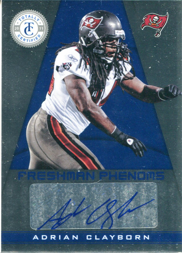 2011 Totally Certified #152 Adrian Clayborn AU/299 RC
