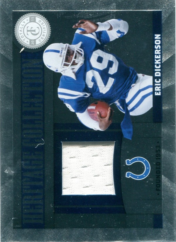 2011 Totally Certified Heritage Collection Jerseys #18 Eric Dickerson/249
