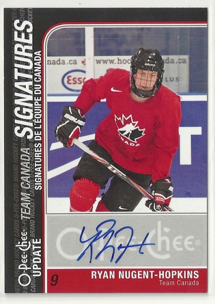 2011-12 O-Pee-Chee Team Canada Signatures #TCRY Ryan Nugent-Hopkins Upd. A