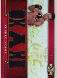 2012 Topps UFC Knockout Triple Threads Relics #TTRYO Yushin Okami