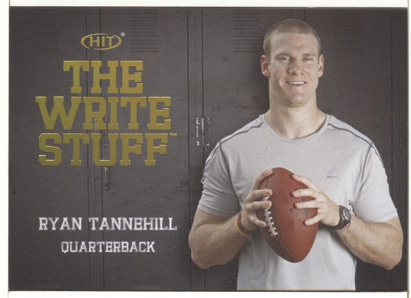 2012 SAGE HIT Write Stuff Gold #WS19 Ryan Tannehill