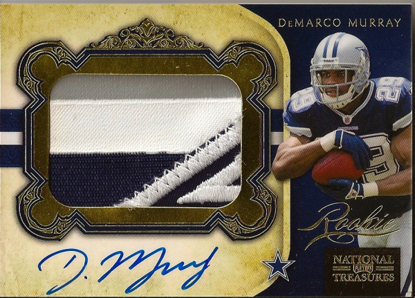 2011 Playoff National Treasures Rookie Signature Material Gold #331 DeMarco Murray