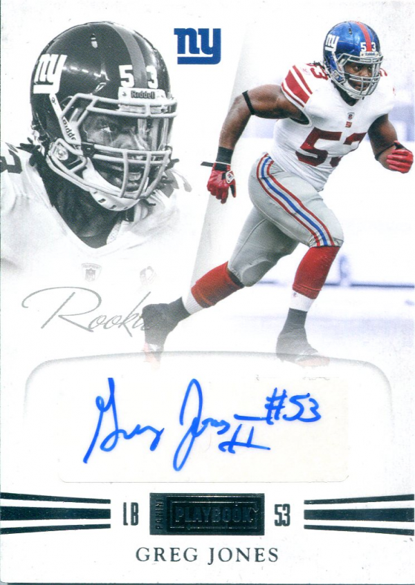 2011 Panini Playbook #66 Greg Jones AU/299 RC