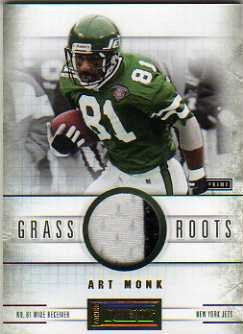 2011 Panini Playbook Grass Roots Materials Prime #60 Art Monk/25
