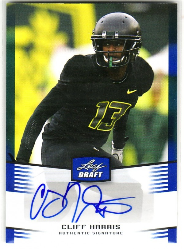 2012 Leaf Draft Autographs Blue #CH3 Cliff Harris