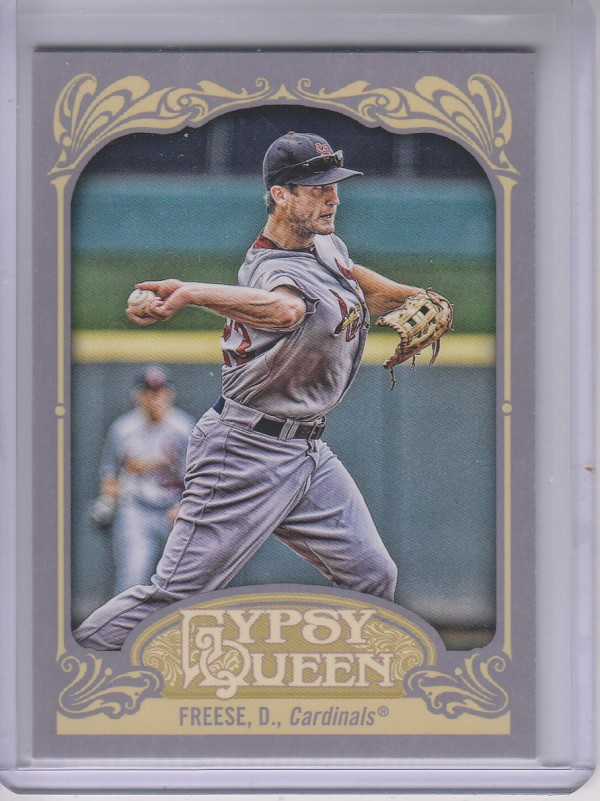 2012 Topps Gypsy Queen #197B David Freese VAR SP