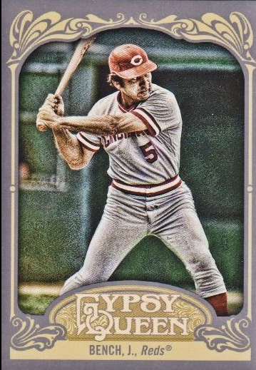 2012 Topps Gypsy Queen #226B Johnny Bench VAR SP