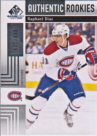 2011-12 SP Game Used #114 Raphael Diaz RC