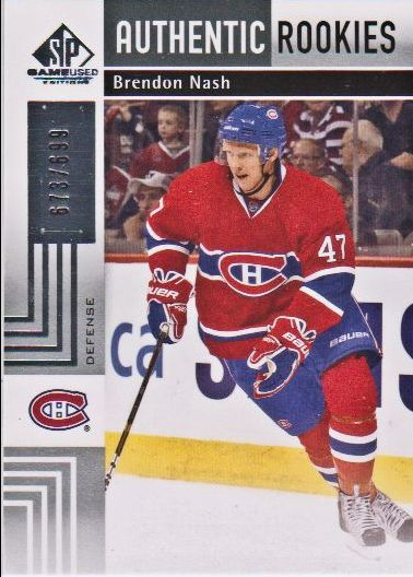 2011-12 SP Game Used #123 Brendon Nash RC