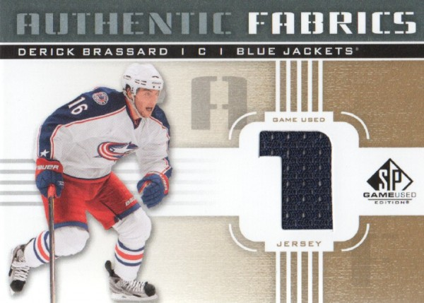 2011-12 SP Game Used Authentic Fabrics Gold #AFDE1 Derick Brassard 1 C