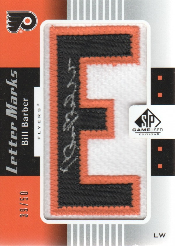 2011-12 SP Game Used Letter Marks #LMBB Bill Barber