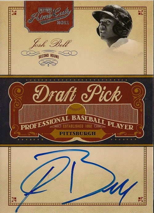 2011 Prime Cuts Draft Pick Signatures #166 Josh Bell